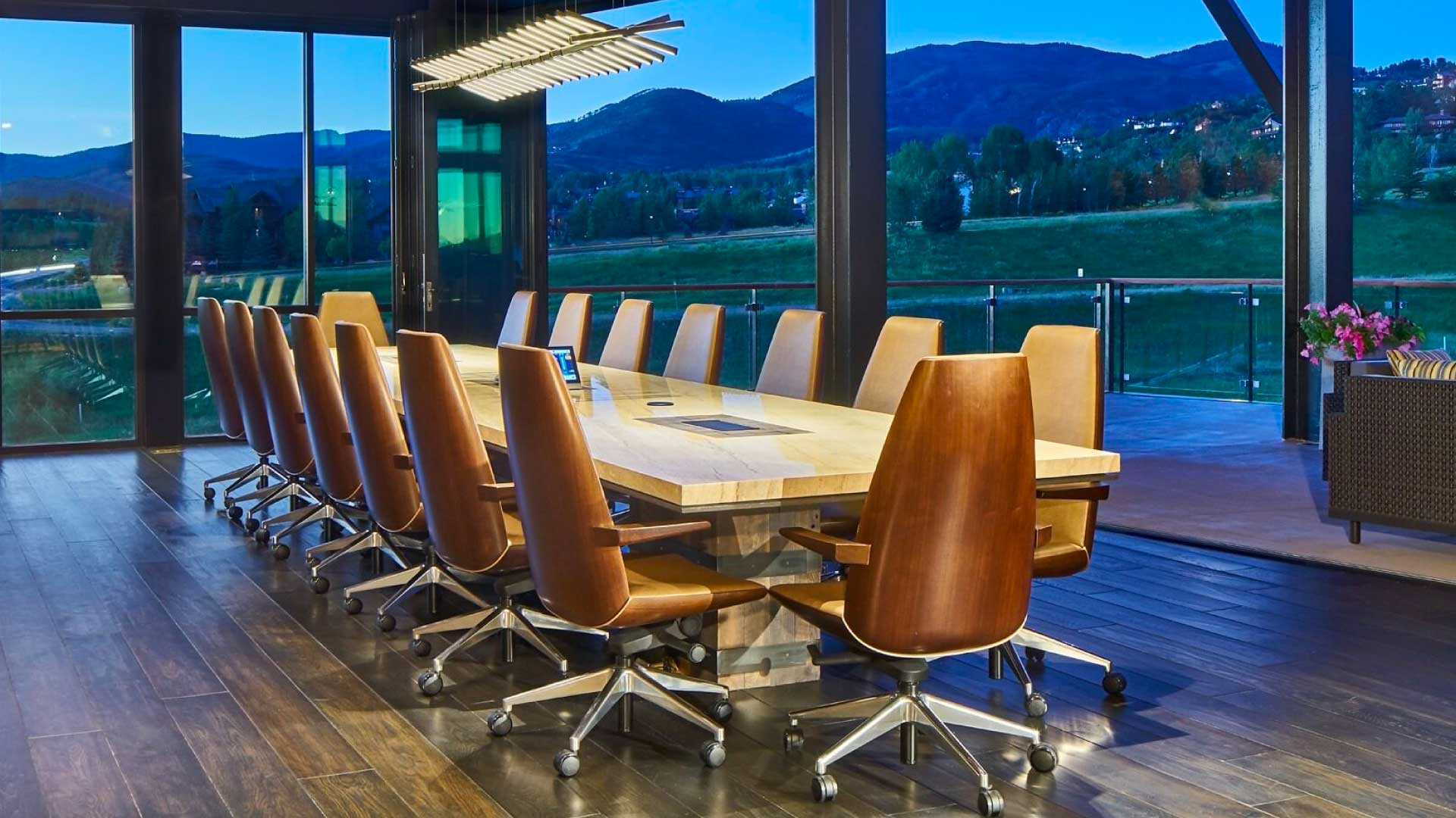 custom conference table by twenty1five
