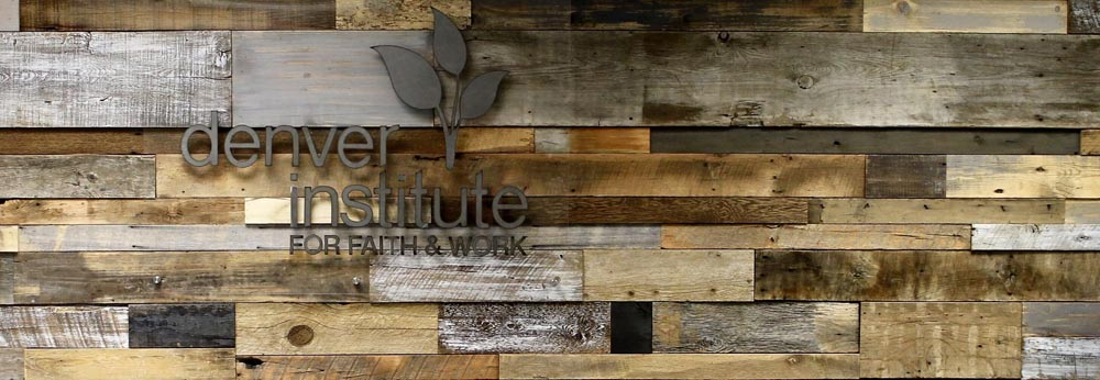 custom sign by twenty1five for denver institute for faith and work