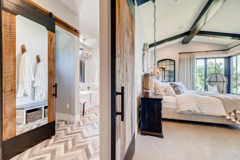 luxury home with sliding doors