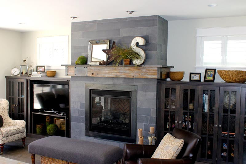 custom fabricated mantel