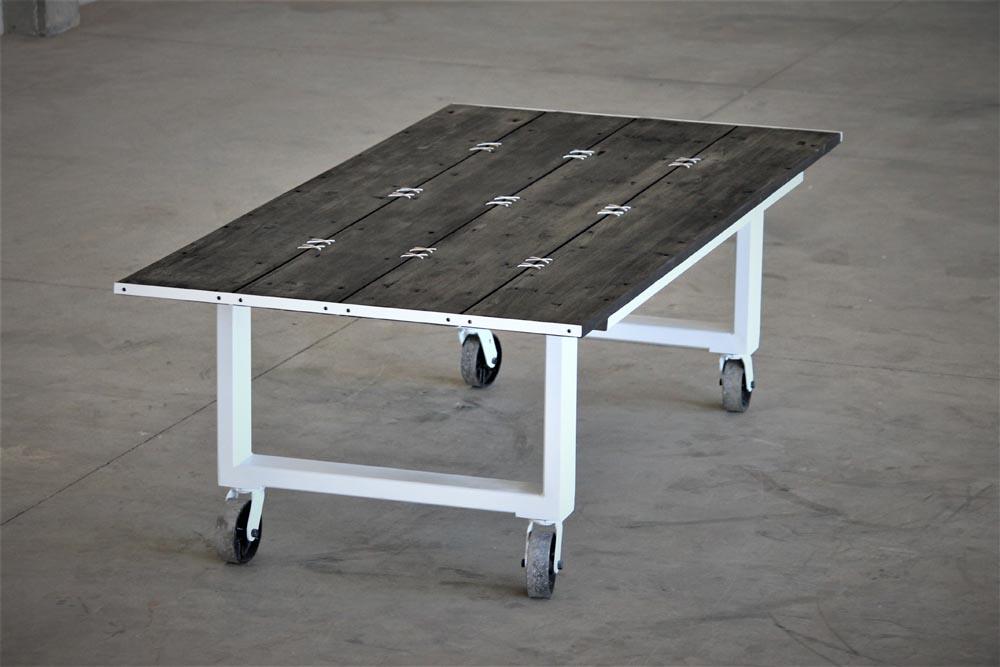 table on wheels custom design