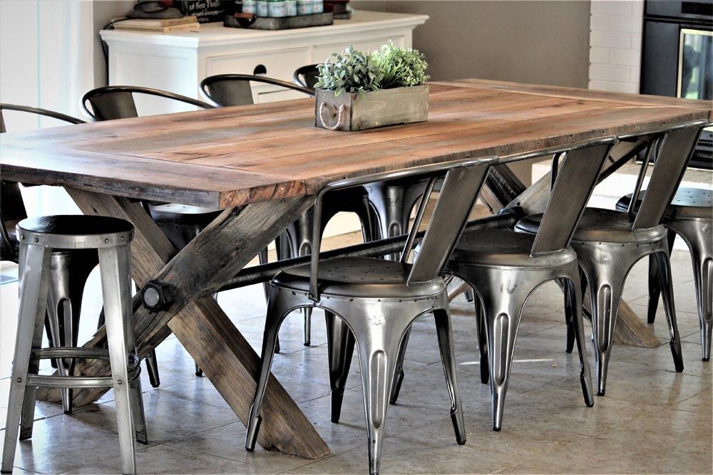 custom colorado rustic twenty1five fabricated dining table