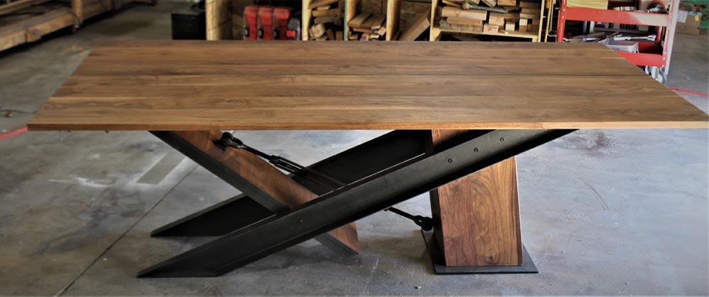 custom fabricated dining table modern