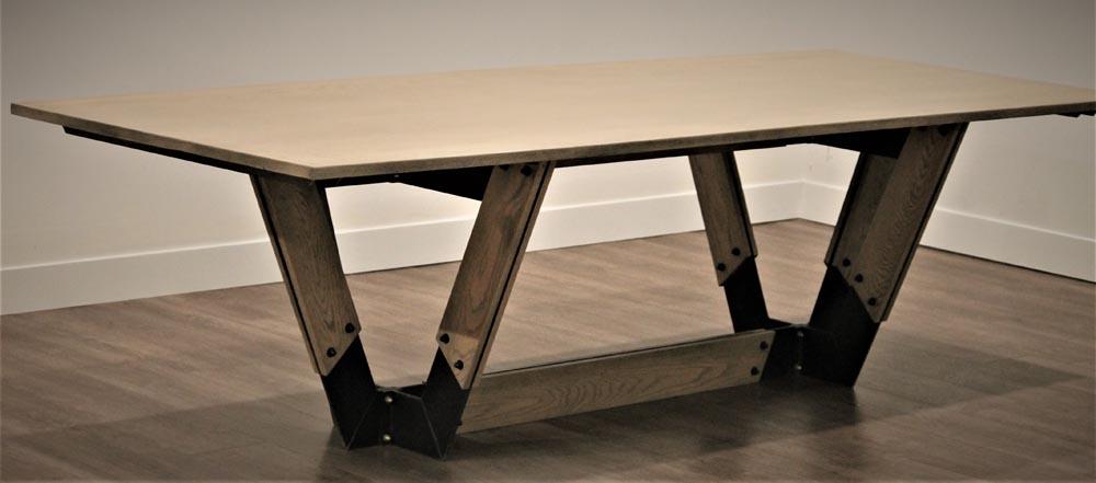 custom fabricated dining table