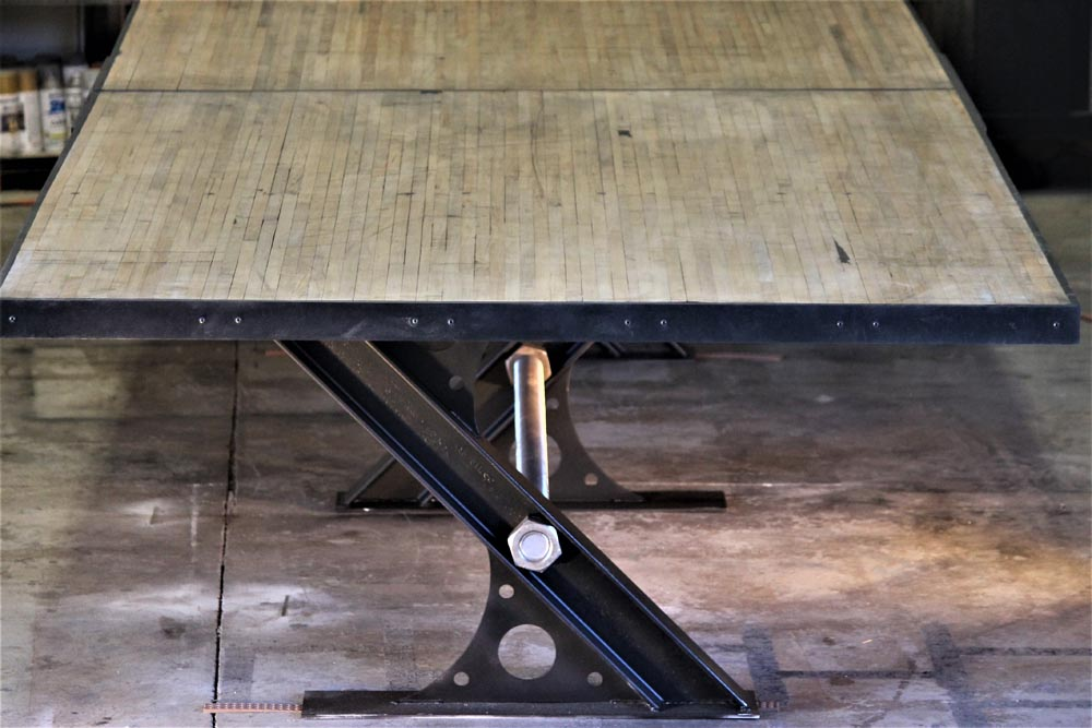 custom fabricated dining table detail