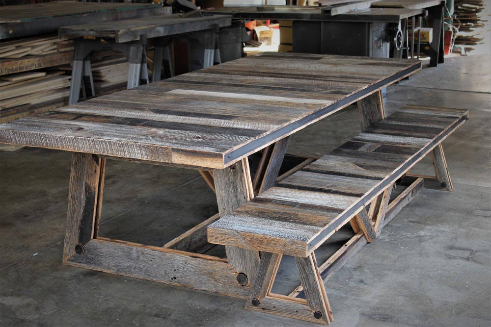 custom wood bench