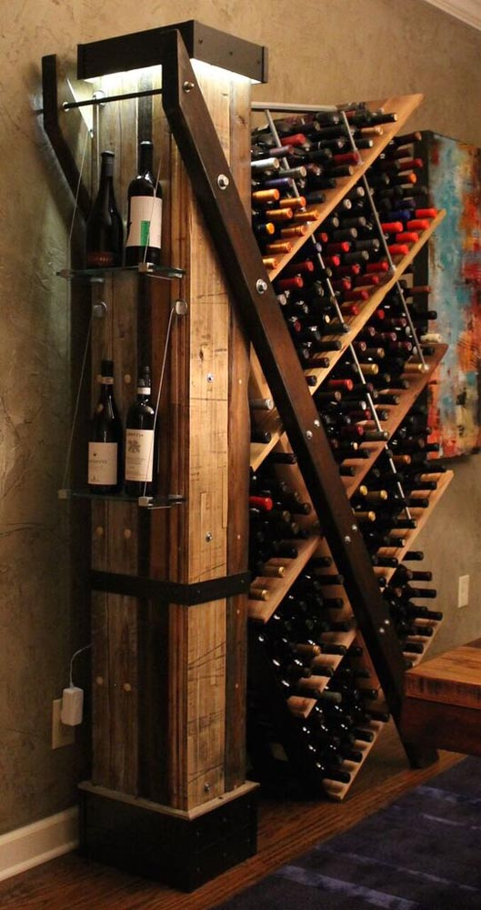 custom fabricated wine rack