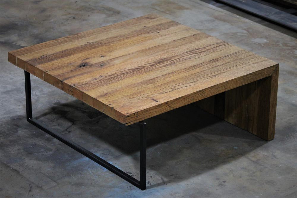 coffee table custom wood and metal design