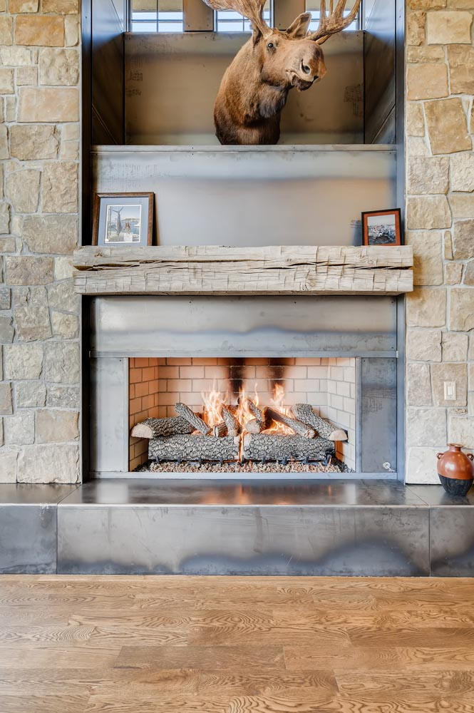 fireplace custom design and fabrication by twenty1five