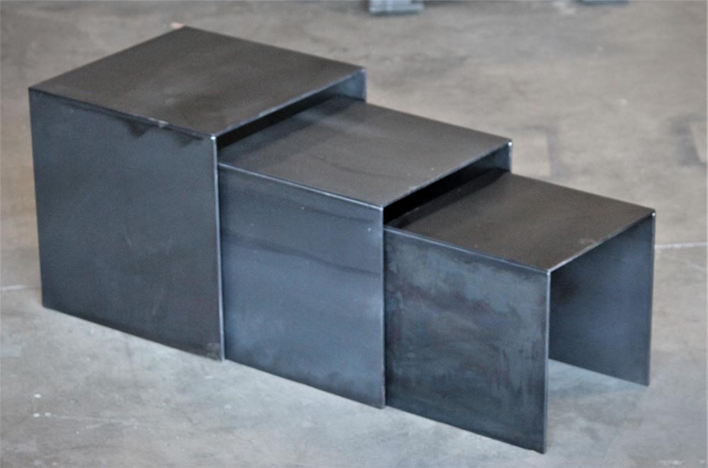 metal stacking side tables