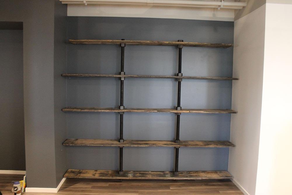 custom shelving unit by twenty1five