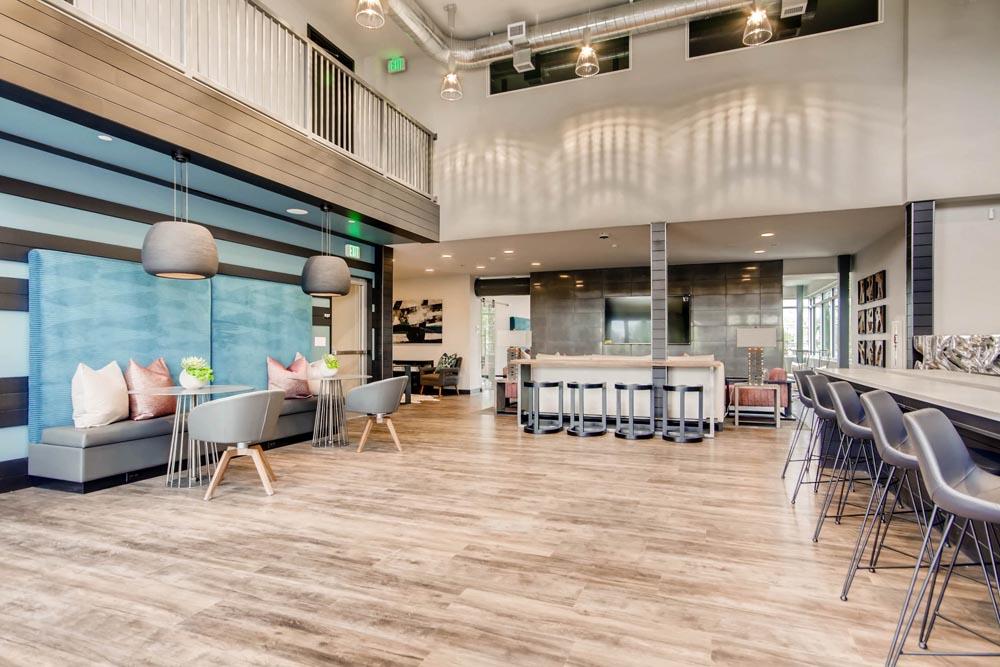 Foundry Hotel lounge with custom furnishings by twenty1five