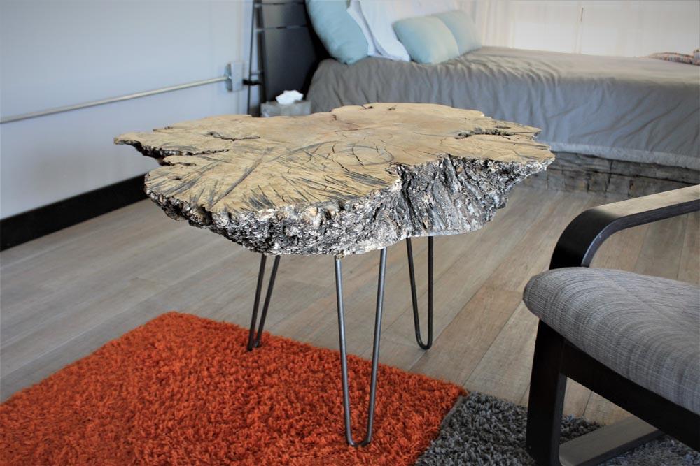 custom wood slab table
