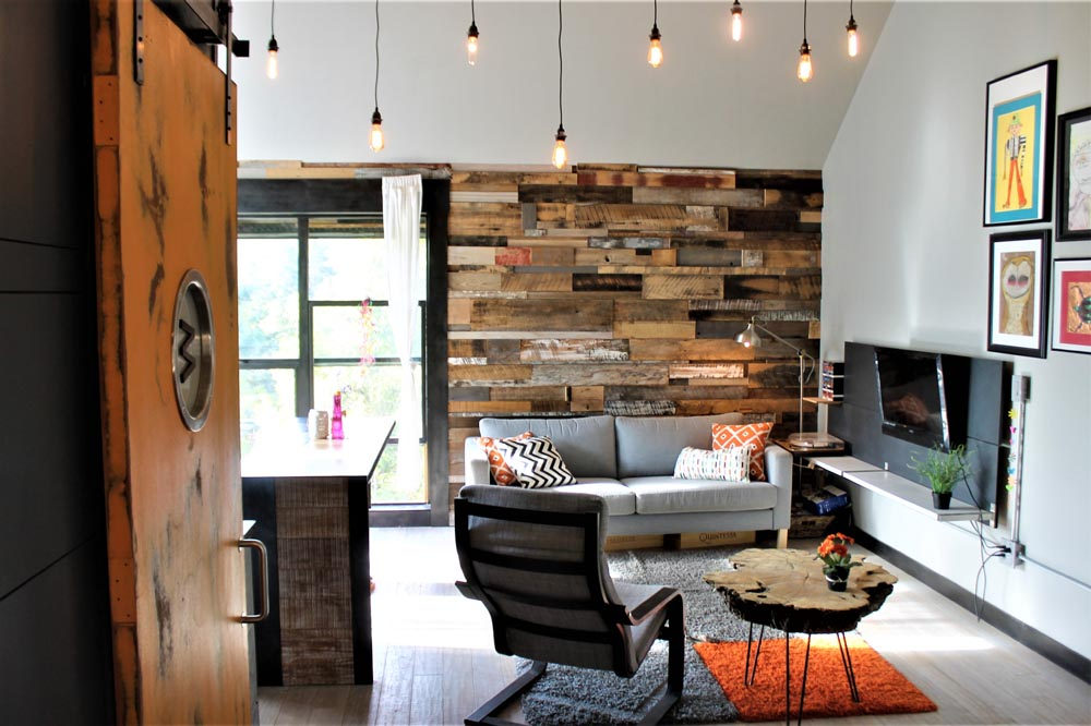 wall cladding in residence