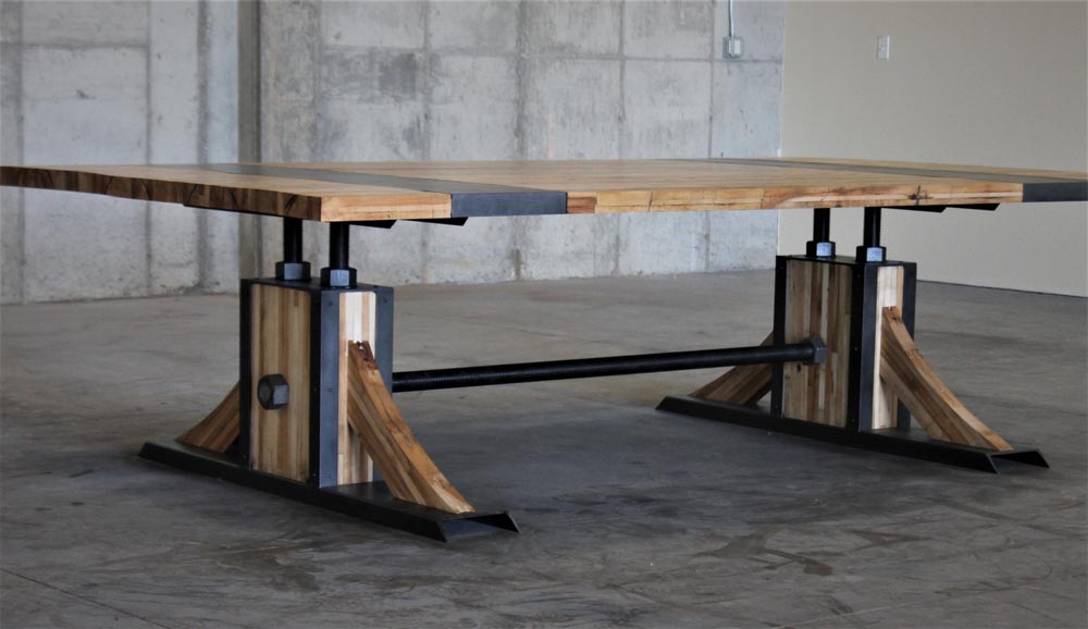 custom fabricated dining table by twenty1five
