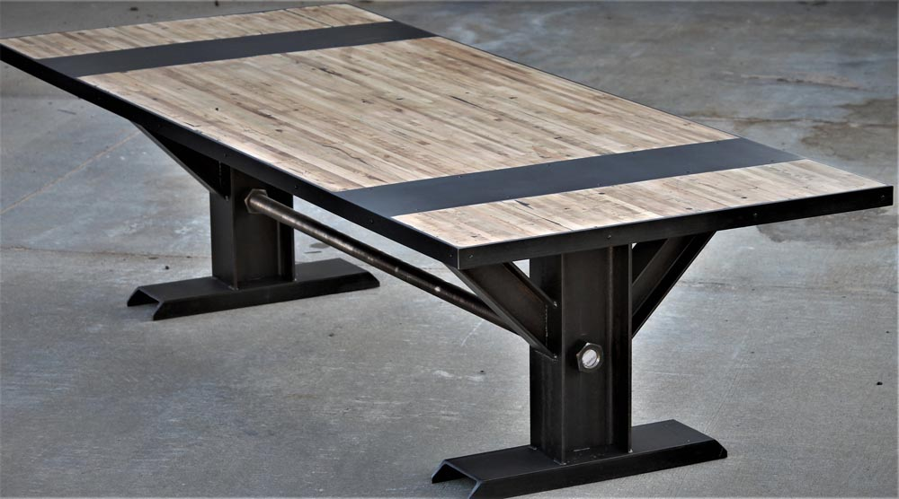 industrial custom fabricated dining table