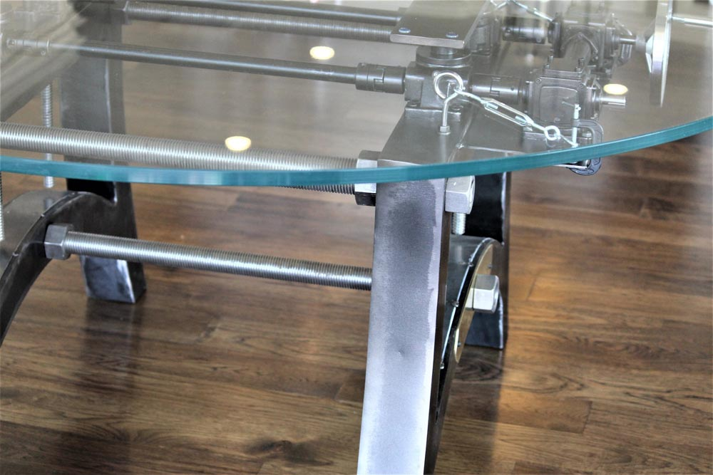 custom glass top dining table design