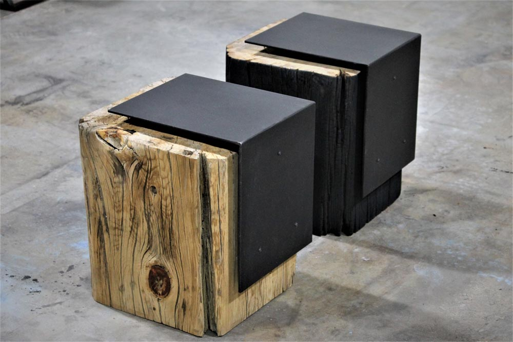 custom fabricated end tables