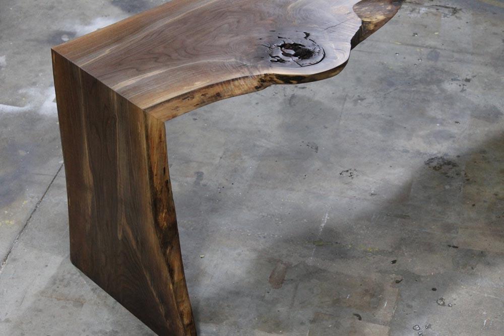 wood desk details