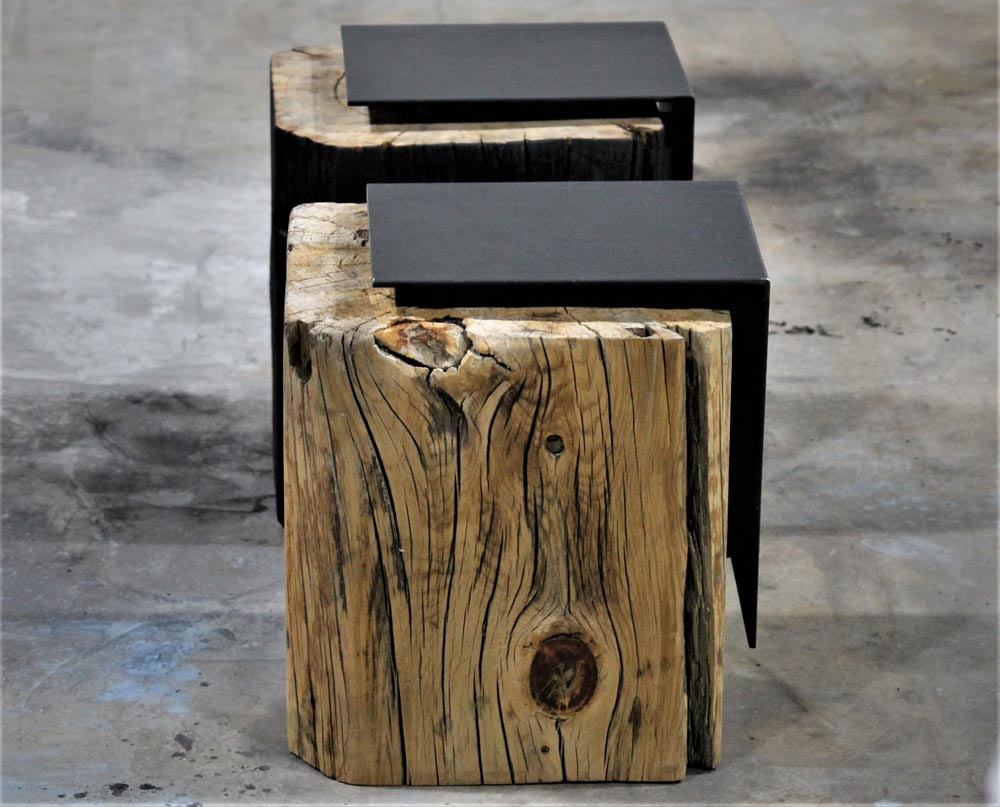 custom designed end tables